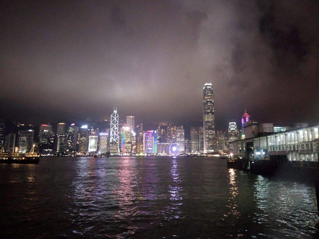 Гонконг - лазерное шоу